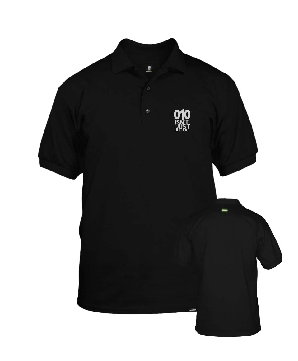 010 isnt just a code RoodWit T shirt Nultien Kleding